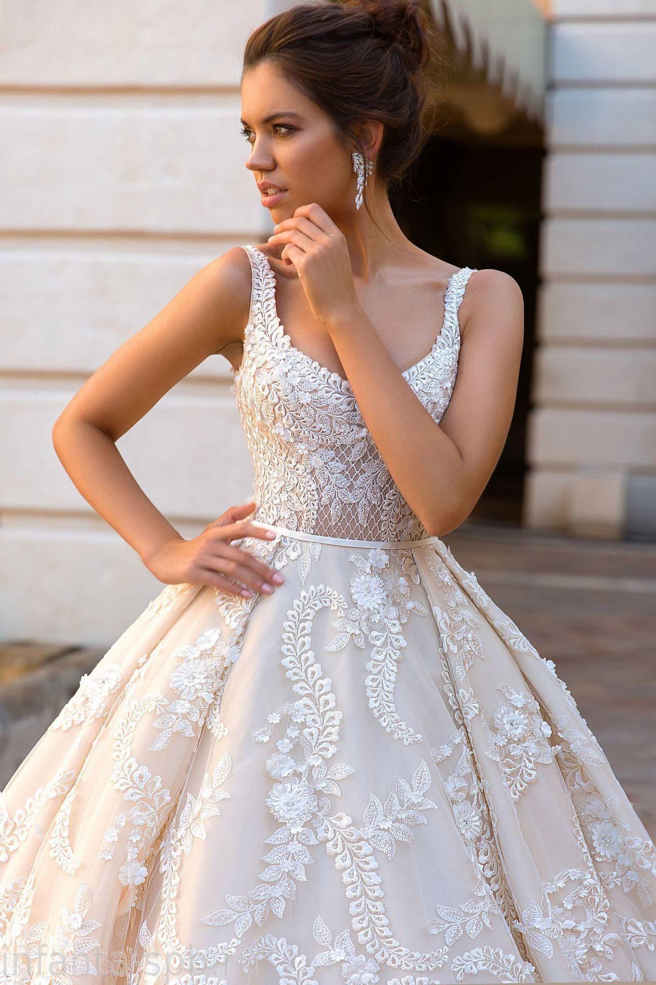 fc60fa61ff7 Модное пышное свадебное платье капучино с обЪемным шлейфом пошив в спб