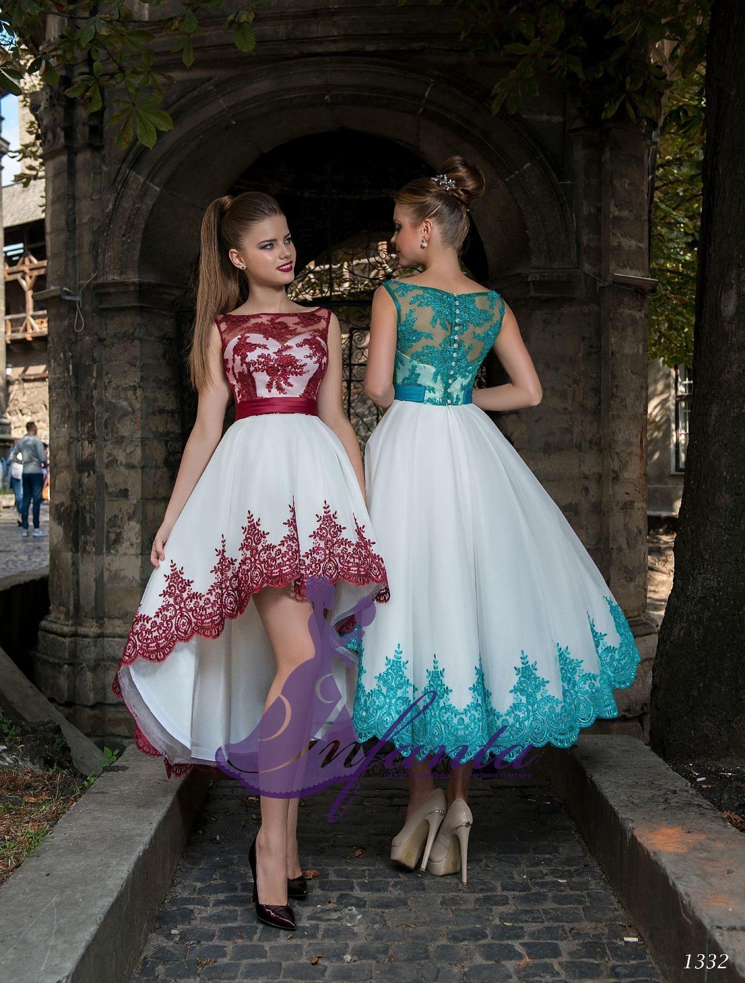 41a7bf3bc9fb5ef Коктейльное платье с юбкой спереди короче сзади длиннее