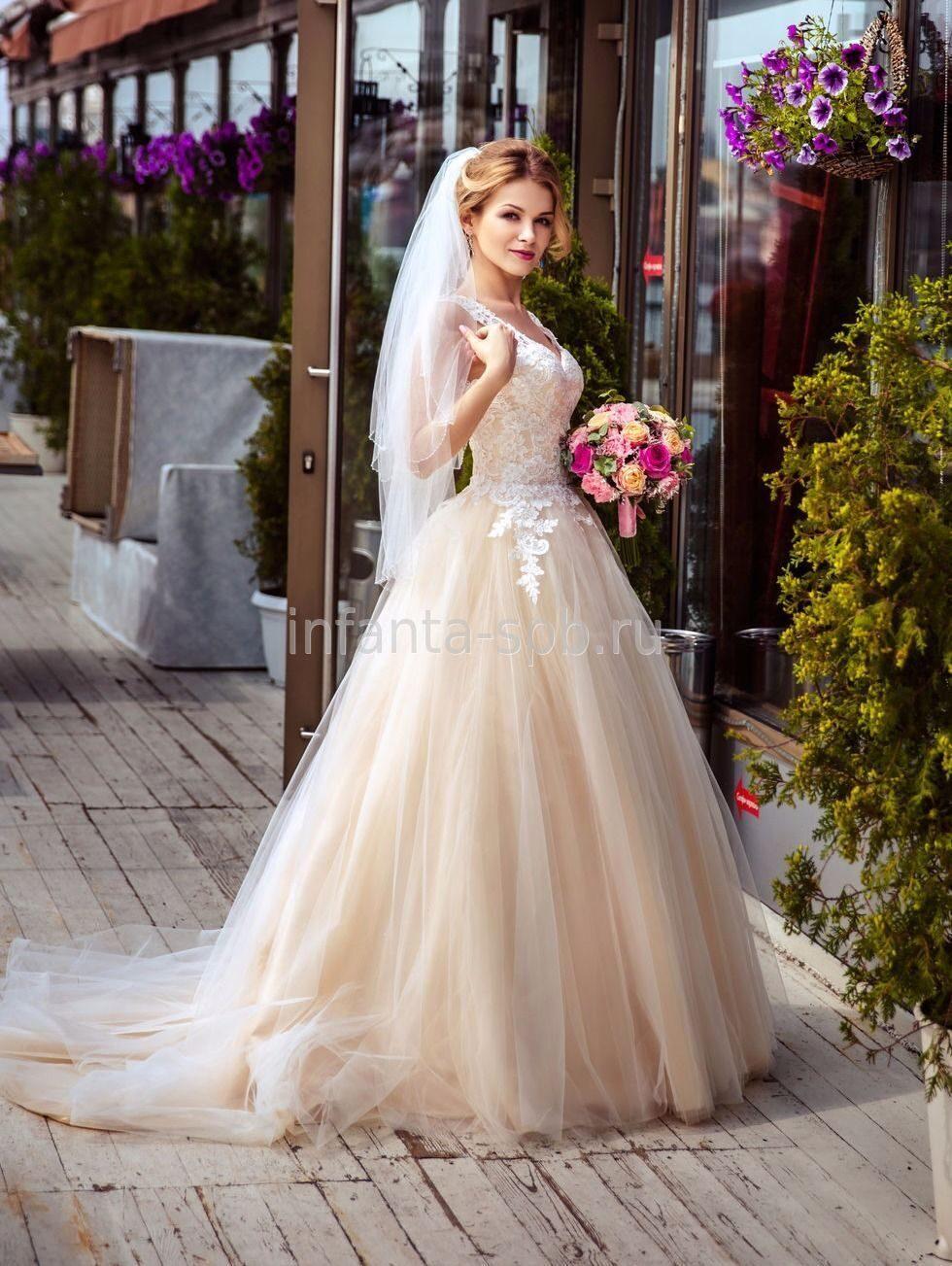 Свадебные платья цвета пудры 2017
