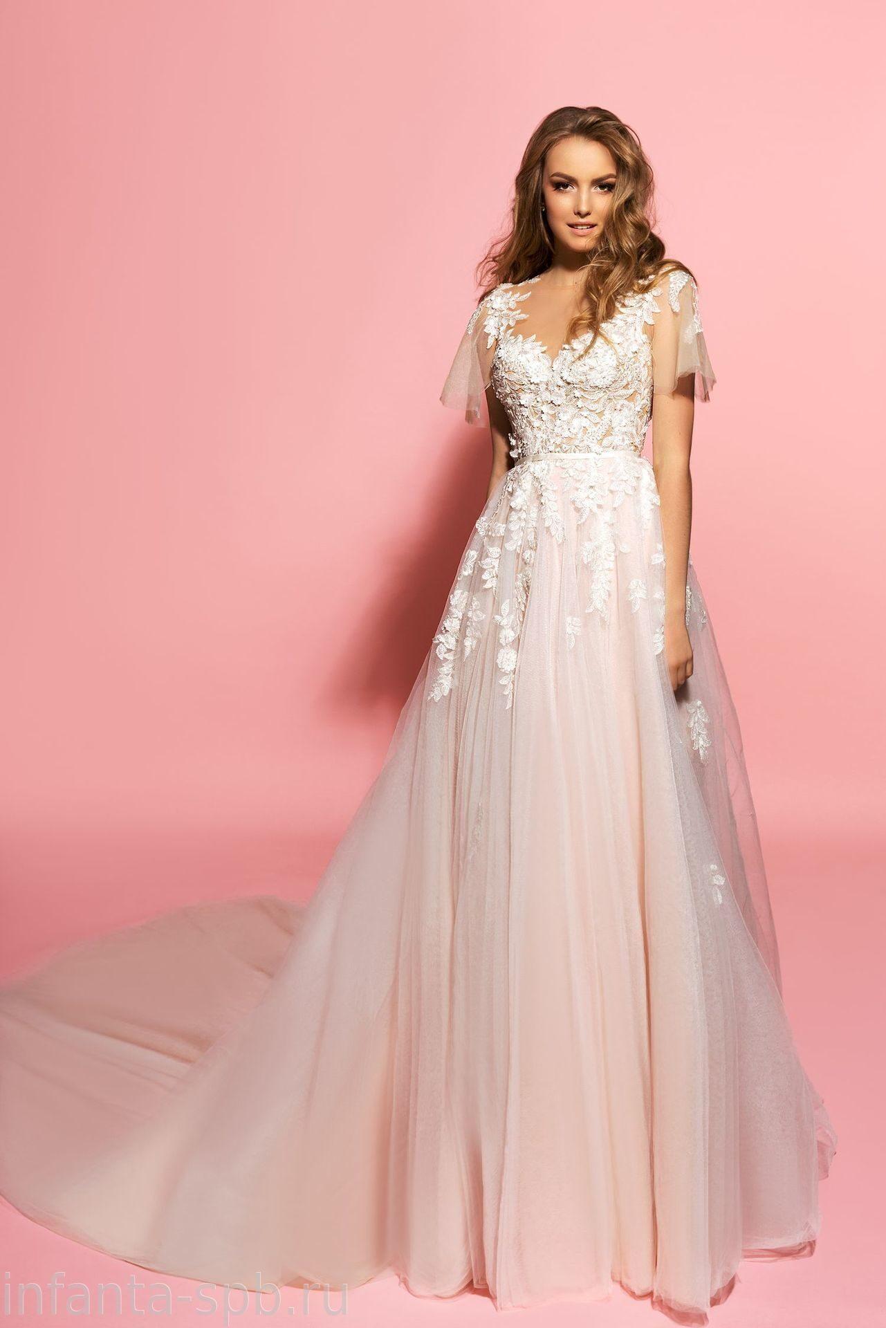 Свадебное платье-с цветами