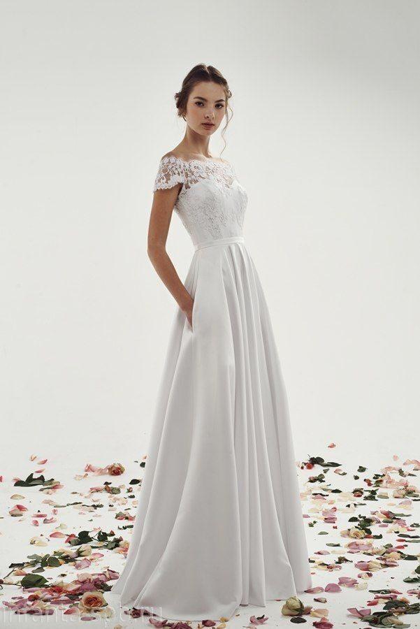 Свадебное платье в пол прямое
