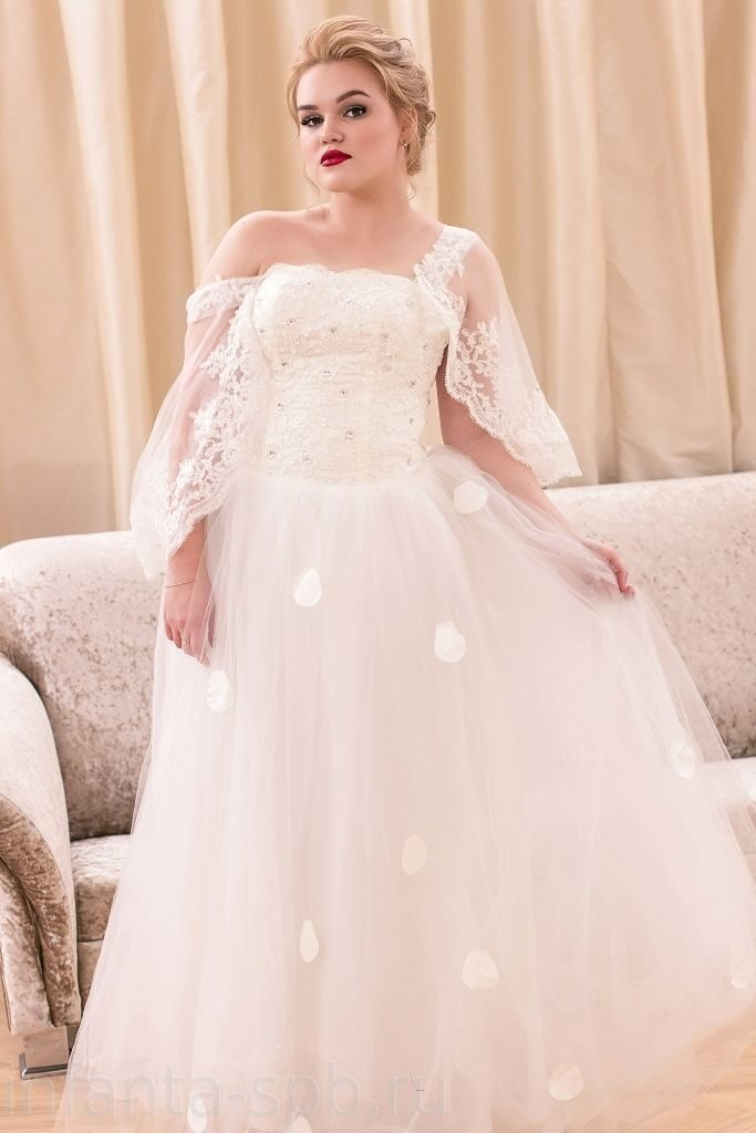 Свадебные с закрытым верхом платья