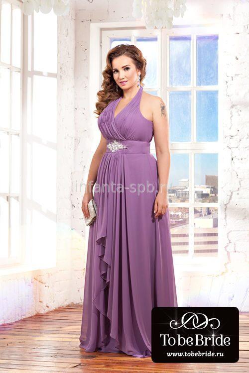 Лавандовое вечерние платье