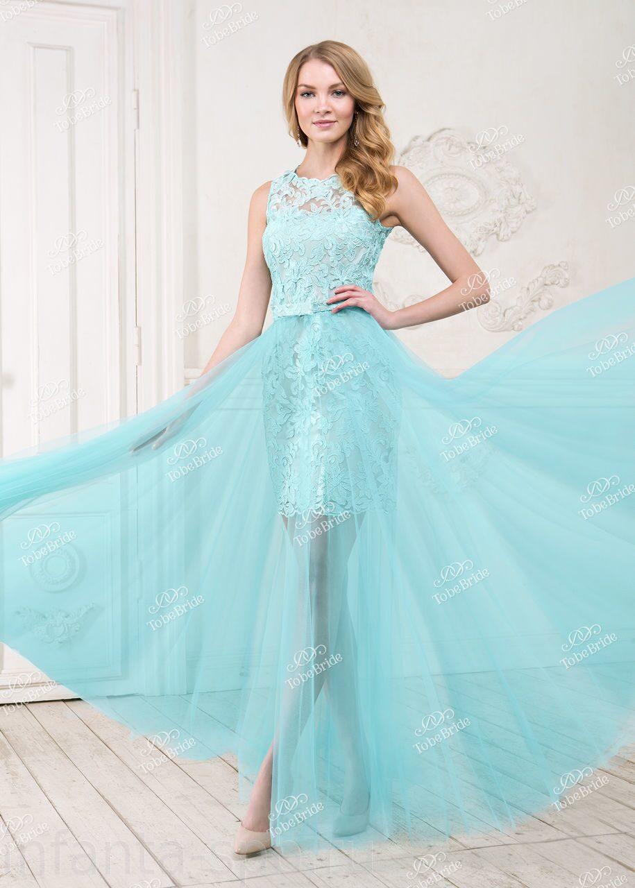Длинное платье с отстегивающейся юбкой