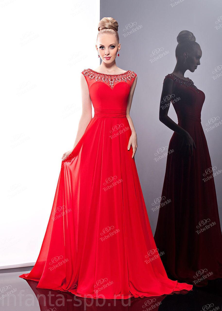 ec579a070ae Красное платье в пол MC049B купить