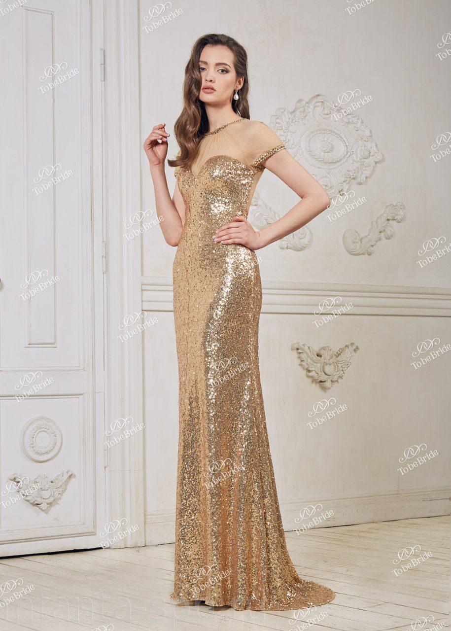 972a2a70390 Золотое вечернее платье на выпускной купить