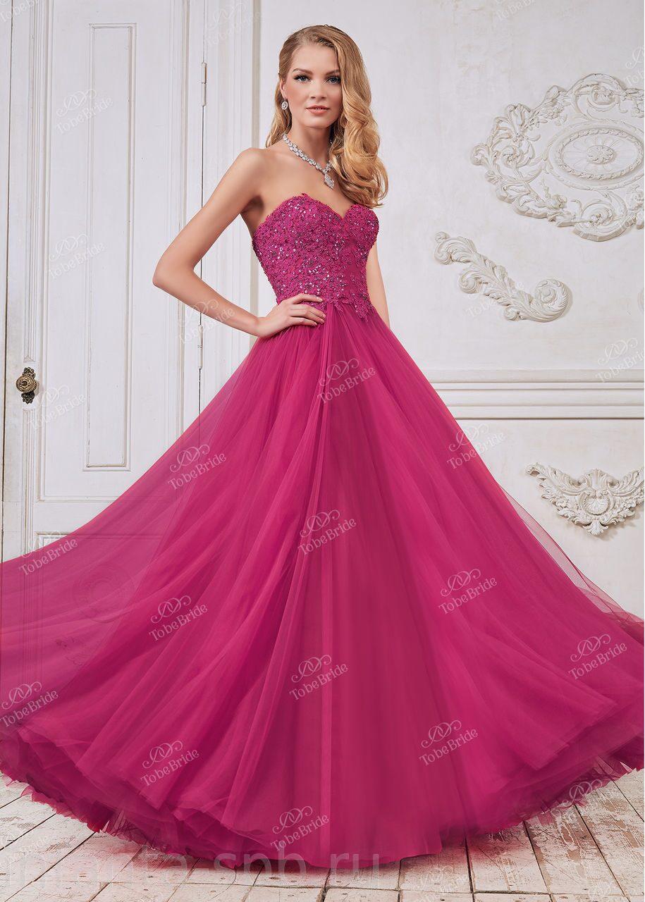Вечернее платье малинового цвета на корсете CH0025B eaa8b63fe223f