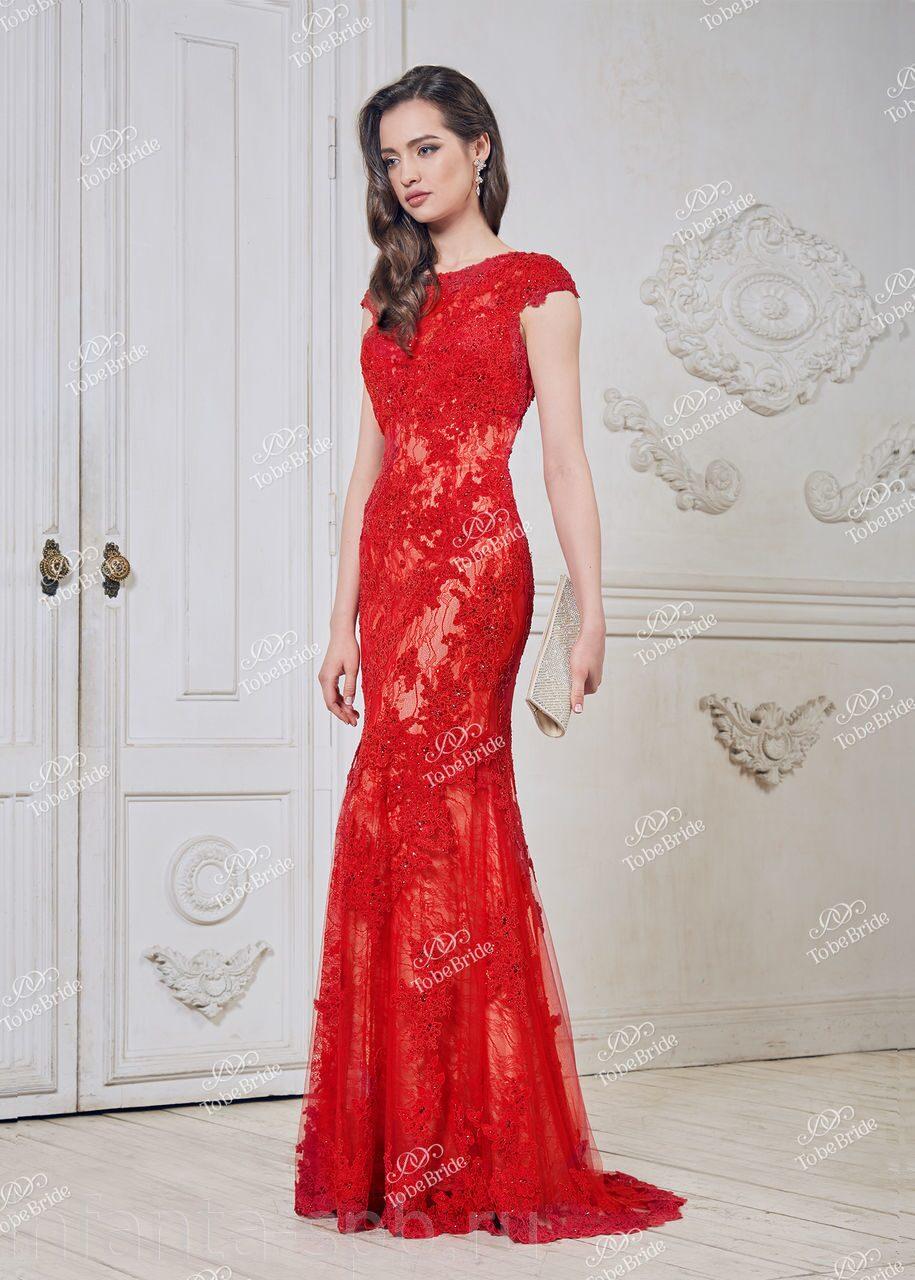 0b4b70a85d4a207 Роскошное красное платье с кружевом   купить в СПБ