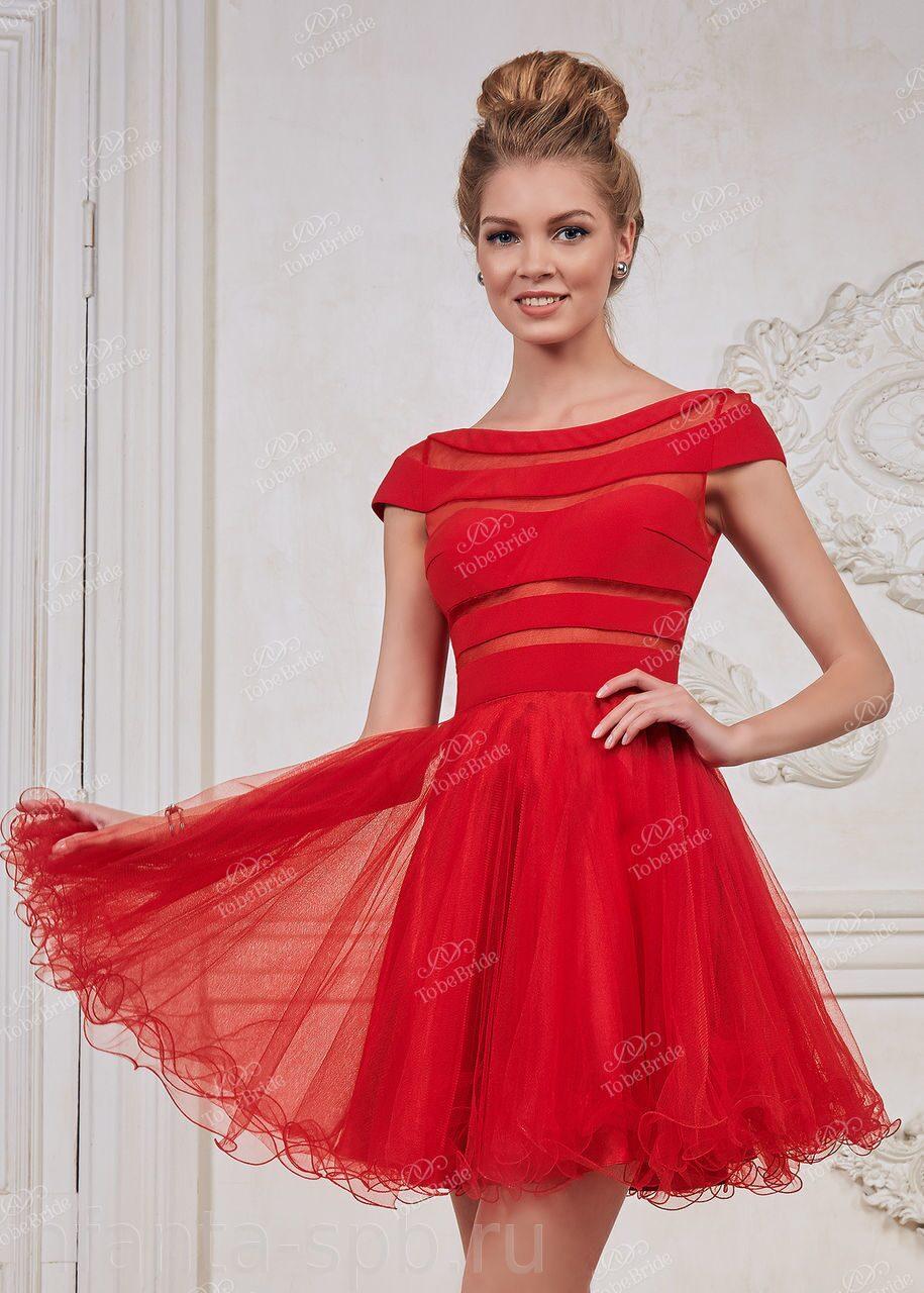 ea117749395 Красное платье с пышной юбкой на выпускной