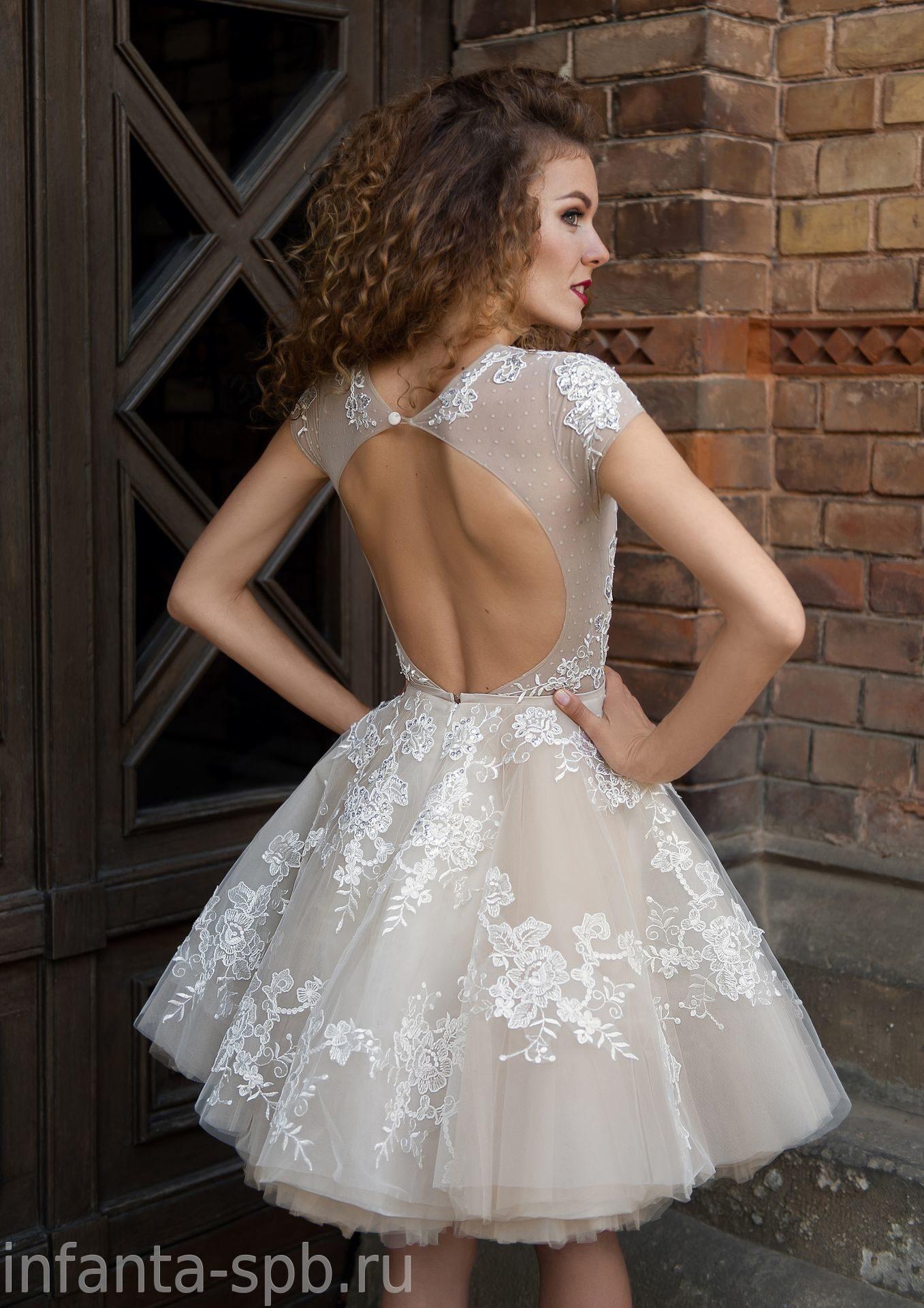 45012c08e13 короткое свадебное платье с пышной юбкой-пачкой