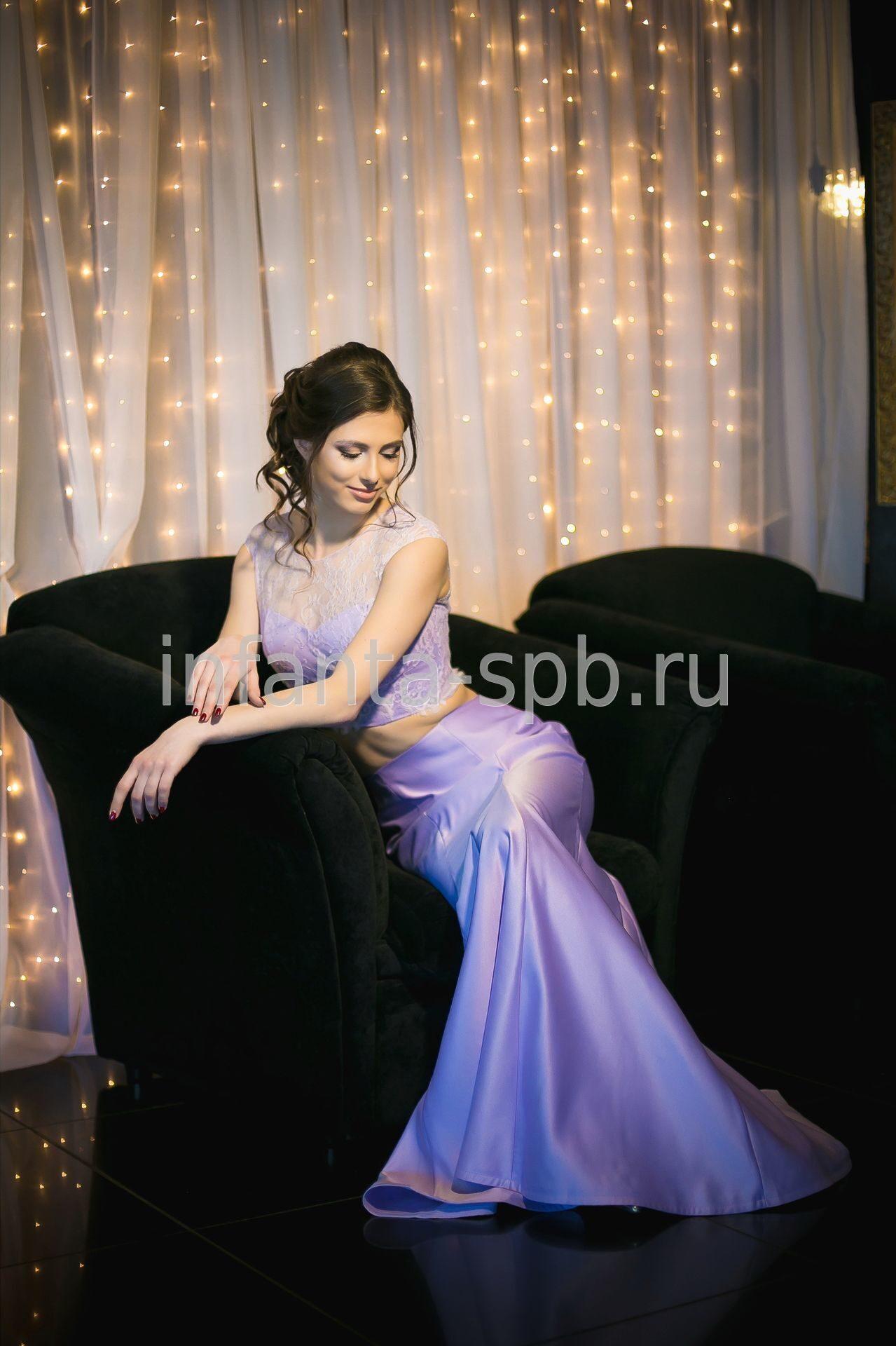 b1752820037 Кроп-топ и юбка силуэта русалка купить на выпускной Спб