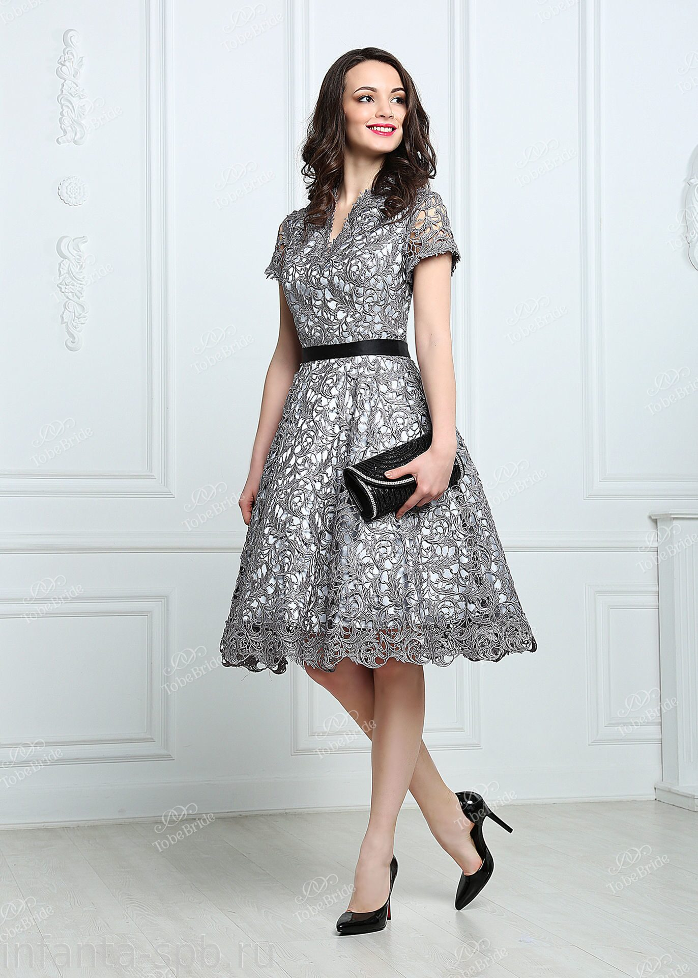 0aa7ee24a79 Кружевное коктейльное платье темных оттенков купить в спб