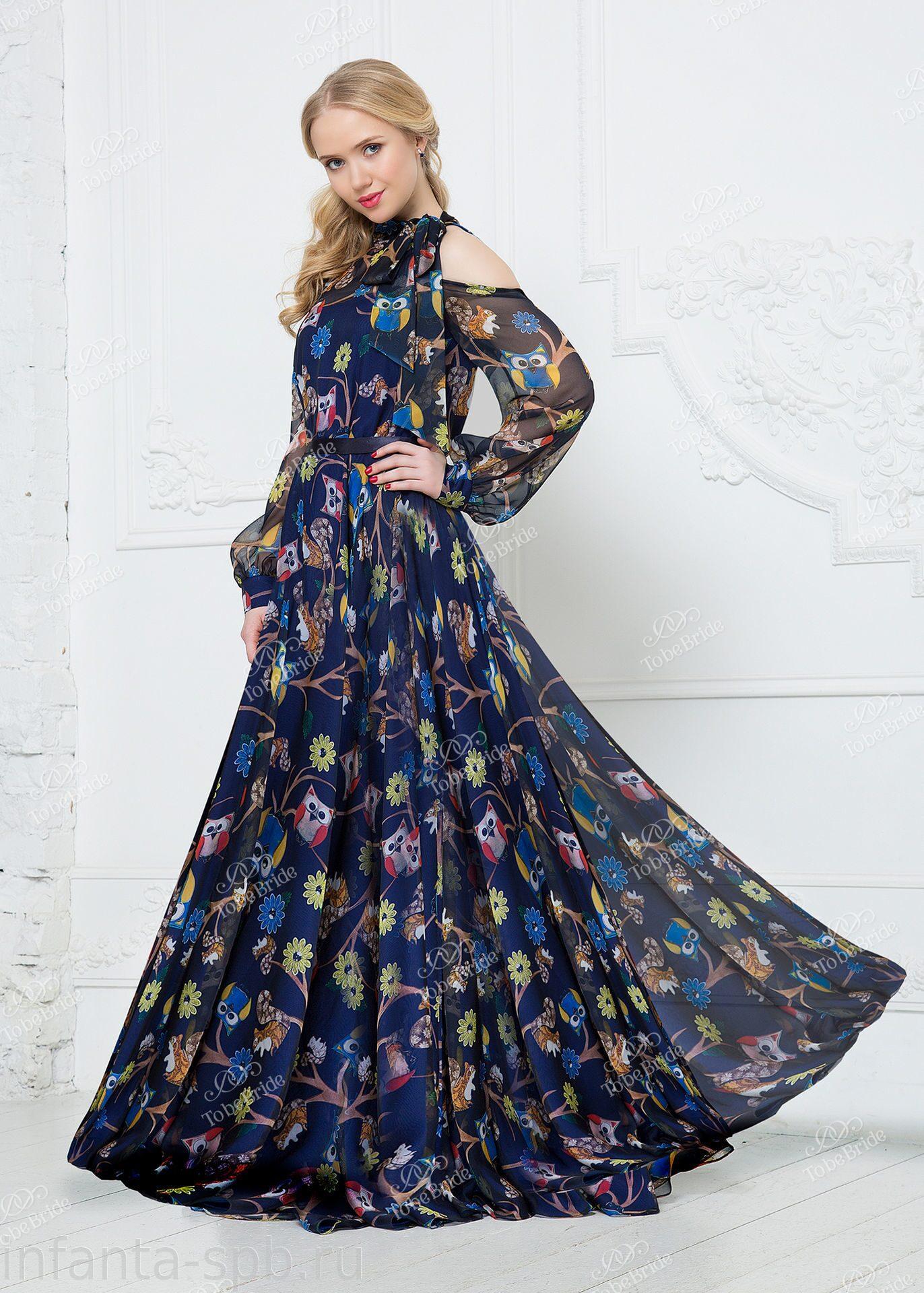 d98bd5a69772548 Вечернее платье из струящегося шифона