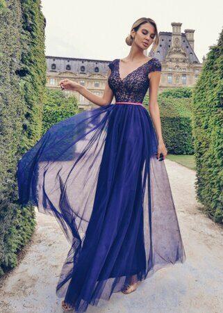 e958ede94929 Синее вечернее платье - купить в Санкт-Петербурге