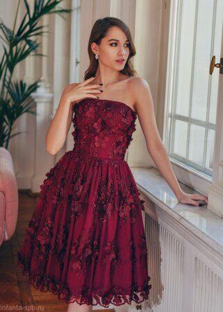 1a28f1c686f Вечернее платье красного цвета - купить в Санкт-Петербурге