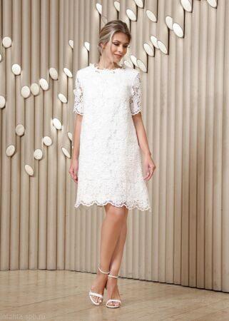 f6c7aae6c9b Кружевное короткое платье колоколом на свадьбу