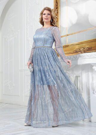 cc22fd39f01 Вечернее платье с блеском с полупрозрачной юбкой